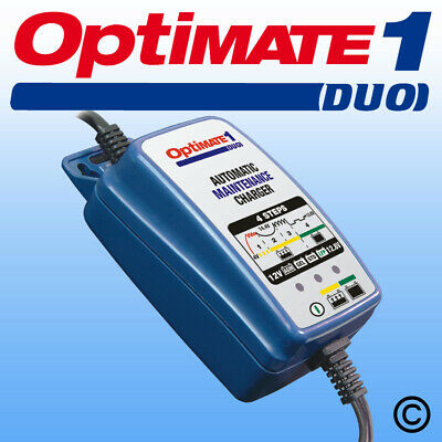OptiMate 1 Duo Motorcycle AGM GEL Lithium 12V Battery Charger Optimiser • 35.99£