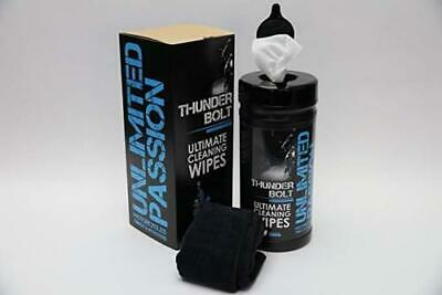 LARGE PACK Unlimited Passion Thunderbolt Cleaning Wipes Motorbike (x80 Wipes) • 29.99£
