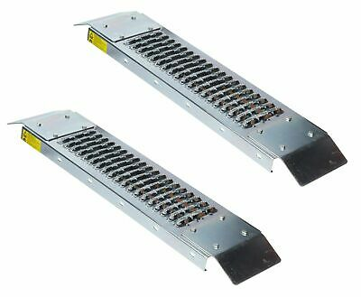 Pair 500lb Loading Ramps Ramp Steel Easy Access Mower Back Steps Scooter 450kilo • 36.99£