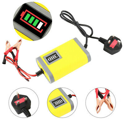 12V Intelligent Motorbike Motorcycle Battery Charger Smart Trickle  Batteries☃ • 7.99£