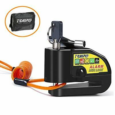 Tchipie Motorcycle Alarm Disc Lock, Anti-theft Disc Lock Motorbike Lock, • 24.99£