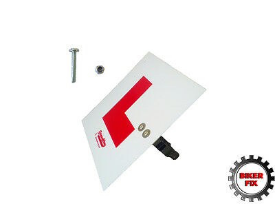Fork Mounted Learner L Rigid Plate Front Pre-Cut Motorcycle Scooter • 5.95£