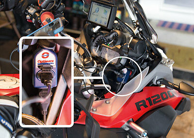 Optimate O-105 Twin Outlet DIN To USB Charger For BMW R1200GS, R1200R, R1200RS • 24.95£