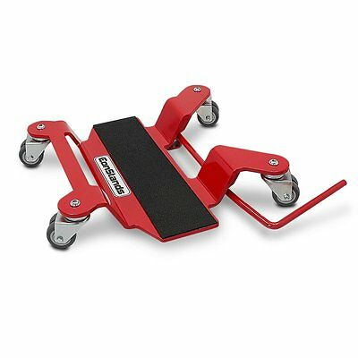 Motorcycle Dolly For Center Stand Mover Constands Red Motorbike Paddock Stand • 71.85£