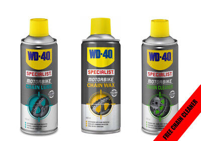 WD-40 Motorcycle Motorbike Chain Maintenance Kit Lube, Wax & Cleaner Ideal Gift  • 19.99£