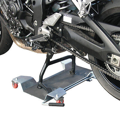 Motorbike Bike Garage Dolly - Biketek Deluxe Motorcycle Centre Stand Mover • 96.99£
