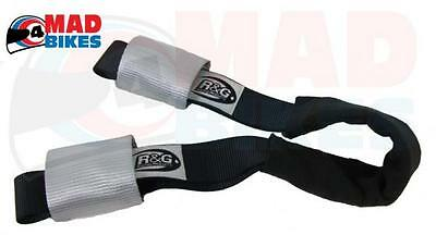 R&G Racing Motorcycle / Motorbike Transport Handlebar Tie Down Top Strap System • 16.44£