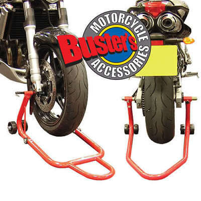 Front And Rear Motorbike Paddock Stand Set Pair Stands • 49.99£
