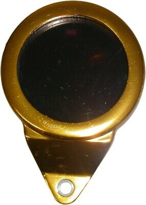 Tax Disc Holder Round Gold Anodised • 8.92£