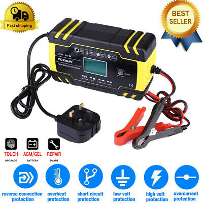 Touch Automatic Intelligent Car Motorcycle Battery Charger Pulse Repair AGM GEL • 21.99£