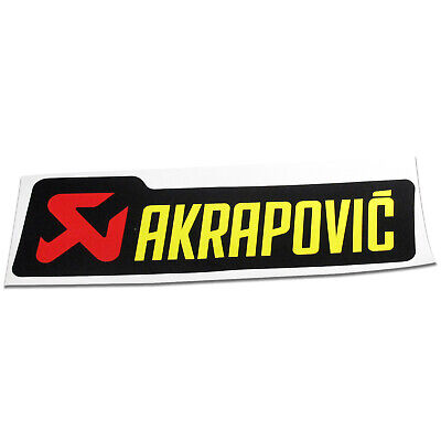 Motorcycle Akrapovic Exhaust Silencer Can Decal Badge Sticker 180mm • 9.99£