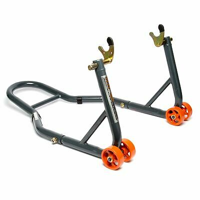 MPW Race Dept - Motorcycle Rear Paddock Stand With V-Adapters In Grey/Orange • 31.99£