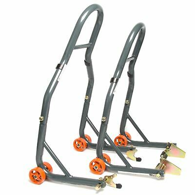 MPW Race Dept Motorcycle Front And Rear Paddock Stand With V-Adapter Combo Pack • 55£