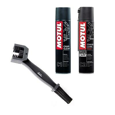 Motul Chain Care Cleaning / Cleaner Lube + Brush For Motorcycle Motorbike • 17.99£