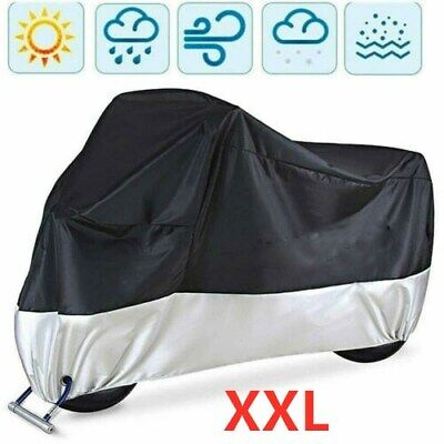 Extra Large Motorcycle Indoor Motorbike Breathable Bike Dust Cover 245x105x125cm • 9.99£