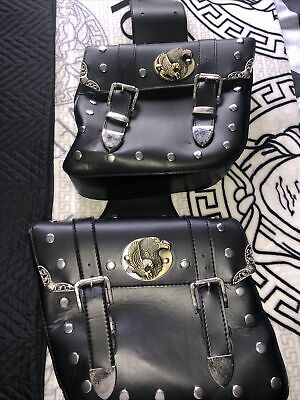 2 X Brand New Faux Leather Motorbike Side Bags • 30£