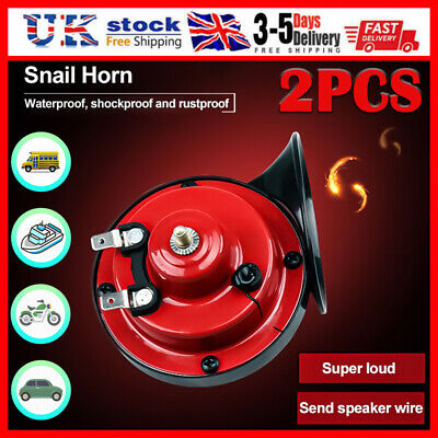2X 300DB Air Snail Horn 12V Car Truck Lorry SUV RV Train Truck Boat Loud Camper • 13.88£